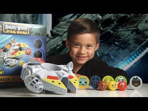 Angry Birds Star Wars MILLENNIUM FALCON BOUNCE GAME & Epic World