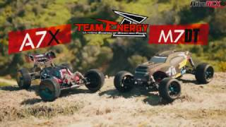 http://www.nitrorcx.com/97c666-m7dt-ep-desertbuggy-rtr-24g.htmlhttp://www.nitrorcx.com/97c662-a7x-ep-buggy-rtr-24g.htmlTeam Energy has developed an all new 1/7 scale racing chassis. These machines is built solid and sturdy to handle tough terrain while its suspension and controls handle like a precision F1 race car. This is a ready to run buggy and truggy that you can take to jumps for big thrills or take it to a track for top level racing competition. The A7X & M7DT electric powered vehicles has everything that a basher or racer would want packed into an amazing radio controlled racing vehicle.