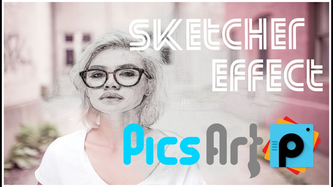 Como usar Sketch Effect no Pics Art