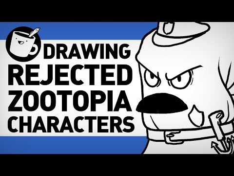 Drawfree draws Rejected Zootopia Characters!