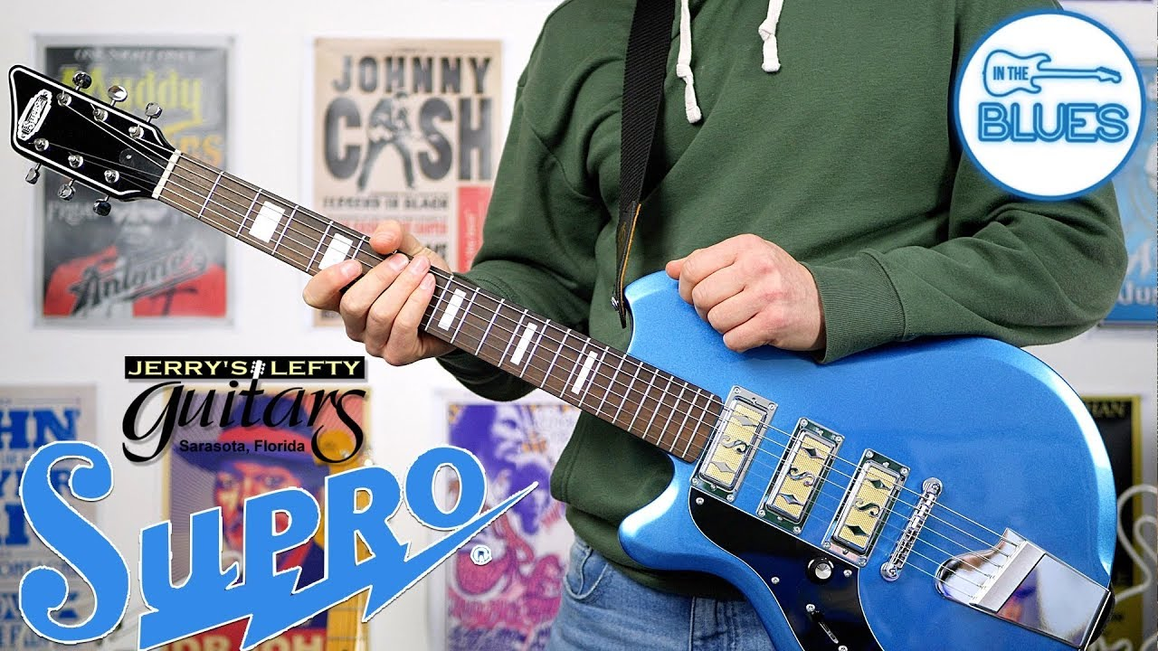 The Supro Hampton in Ocean Blue Electric Guitar – A Jerry's Lefty Guitars Exclusive!