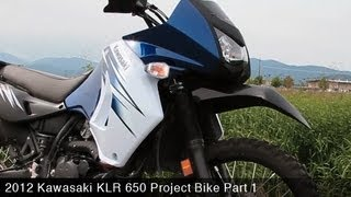 9. 2012 Kawasaki KLR650 Project Bike Part 1 - MotoUSA