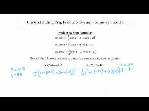 Trig Produkt-to-Sum Angle Formulas