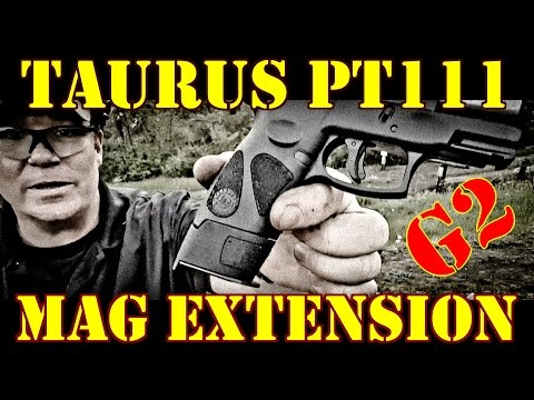 Taurus PT111 G2 Mag Extension By Shapeways Install And Demonstration