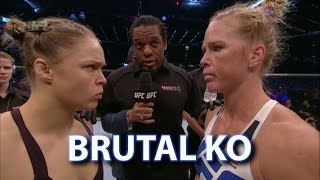 Video Holly Holm Shocks Ronda Rousey via Brutal Head Kick - Post Fight Thoughts and Analysis MP3, 3GP, MP4, WEBM, AVI, FLV Desember 2018