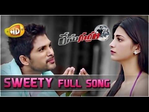Video Race Gurram Video Songs | Sweety Full Song | Allu Arjun | Shruti Haasan | S Thaman download in MP3, 3GP, MP4, WEBM, AVI, FLV January 2017