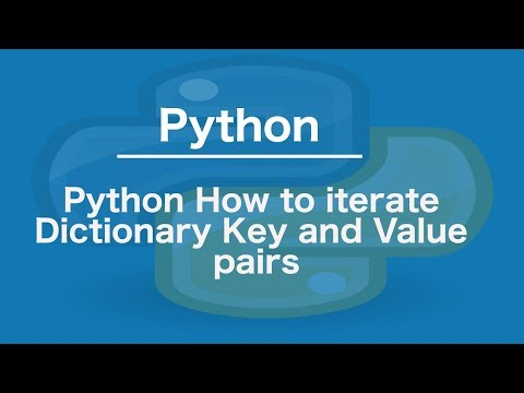 Python How to iterate Dictionary Key and Value pairs