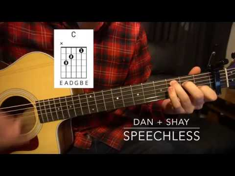 Easy Guitar Lesson (W/Chords!) // Dan + Shay // Speechless