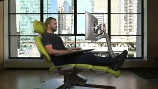 Altwork Station: le siège pour travailler assis, debout ou même couché !
