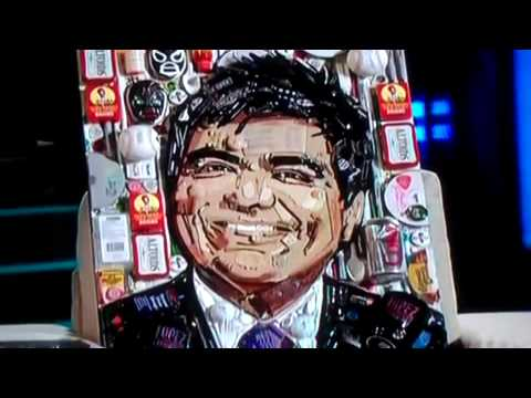 Margaret Cho & George Lopez junk portraits featured on Lopez Tonight!