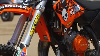 4. Upgrade - Race Tech's KTM 65SX Fork Internals - TransWorld Motocross