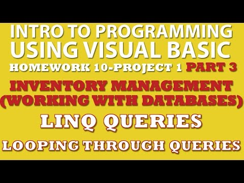 VB.net Programming Challenge 10-1: Inventory Management Part 3 (VB.net working with Databases, VB LINQ)
