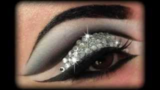 Rihanna Diamonds - Glitter & Rhinestones Make Up Tutorial - YouTube