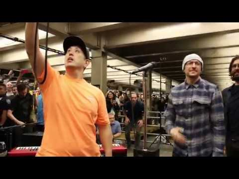 Linkin Park live at NYC subway