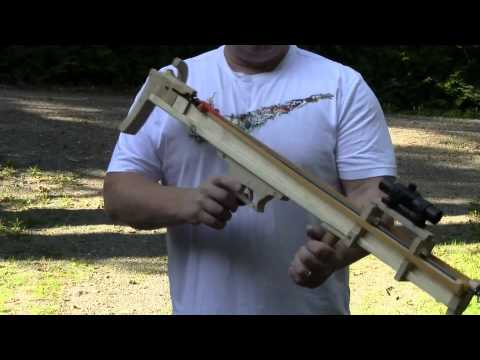 crossbow - The Slingshot Channel has presented several rubber powered crossbows in the past. The bullet shooting bullpup design is one of the most popular designs. This...