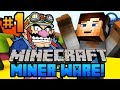 "Minecraft MINERWARE - CRAZY Mini Games w/ Ali-A #1 - ""SHOOT THE CREEPER!"""
