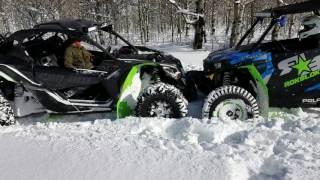 5. CAN AM MAVERICK X3 XRS VS RZR TURBO REVIEW SNOWY MOUNTAIN TRAIL PART 2