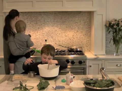 Cooking Tofu and Kale with Kids at Elizabeth's Kind Cafe.com