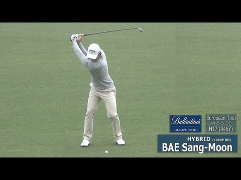 [1080P HD] BAE Sang-Moon 2013 Hybrid Wood with Practice Golf Swing (2)_European Tour