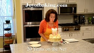 Joyofbaking.com started on May 15, 1997 and on May 15, 2017 we celebrate 20 years on the Internet with a birthday carrot cake decorated with French Macarons. The carrot cake recipe is one of the first we had on Joyofbaking.com and one of the first YouTube videos. The video is available here: https://youtu.be/DD5y0Ydjk68?list=PL52FF89E19B091CB5 The French Macaron video is available here: https://youtu.be/jR7lNITB7ZY?list=PLA8180F5DB6F16B60New Recipes every Thursday before noon Eastern time. Join our Facebook Page: http://www.facebook.com/joyofbaking