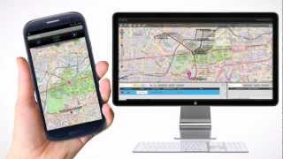 inViu routes GPS tracker OSM YouTube video