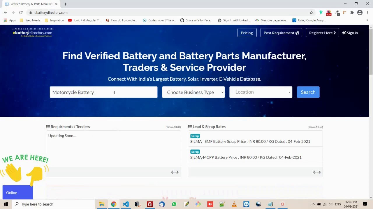 Find Battery Manufacturer, Vendors, Traders and Service Provider in India - E Battery Directory
