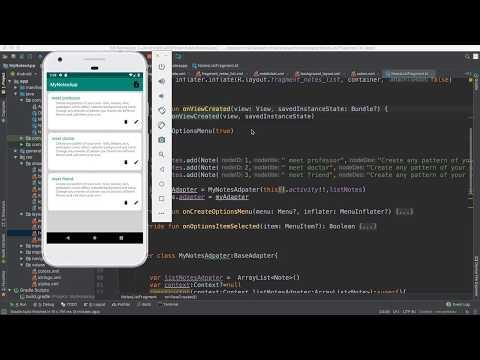 76- Android Note App||   retrive data from SQLite- بحث عن سجل
