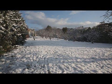 Χιόνι στο Νέο Ηράκλειο Αττικής