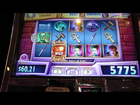 Monster Jackpots Slot- Big Win- Part 2 of 2 videos