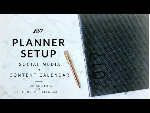 2017 Planner Setup | Social Media + Editorial Calendar | Goal Setting | Stickers
