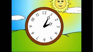 Lesson 9: Time Of Day&1st Person Daily Actions GRAMMAR CARTOON- Kids English By Pumkin.com