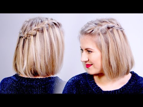 HOW TO: Waterfall Braid Crown Hairstyle For Short Hair | Milabu