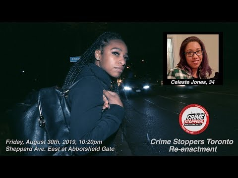 Hit-and-Run Death of Celeste Jones | CrimeStoppers Re-Enactment | Sheppard Ave. East, Aug.30/2019