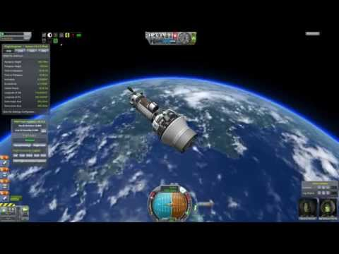 accelerating - The Interplanetary mission leaves Kerbin for Jool. Because of the redesign halfway through we can't turn this particularly fast and acceleration is best perf...