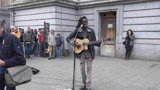 Video No Woman, No Cry  [cover] Reggae busker (street performance) MP3, 3GP, MP4, WEBM, AVI, FLV April 2018