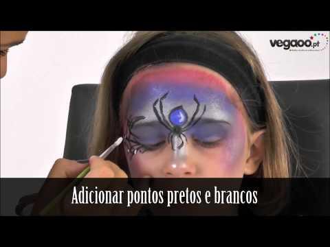 Make-up de bruxa menina