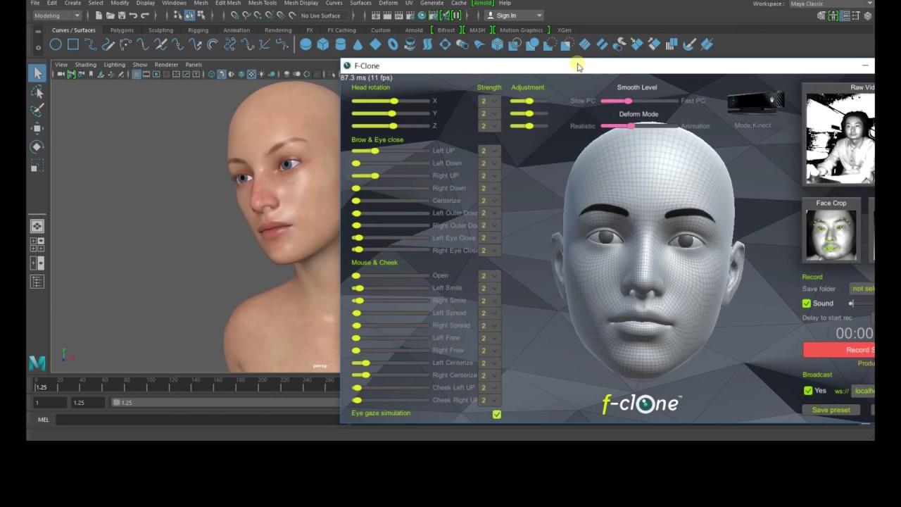 learning markerless facial mocap pipeline in3d maya tutorial