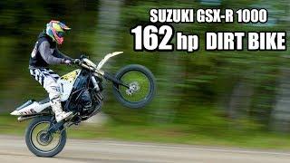 Video SUZUKI GSX-R Dirt Bike 1000cc - OFF ROAD test ride MP3, 3GP, MP4, WEBM, AVI, FLV Maret 2019