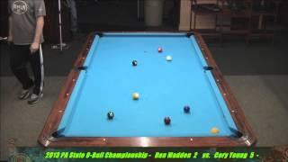Dan Madden Vs Cory Young 2013 PA State 9-Ball Championships