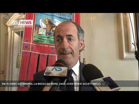 09/11/2019 | AUTONOMIA, LA BOZZA DA ROMA, ZAIA: «COSI' NON E' ACCETTABILE»