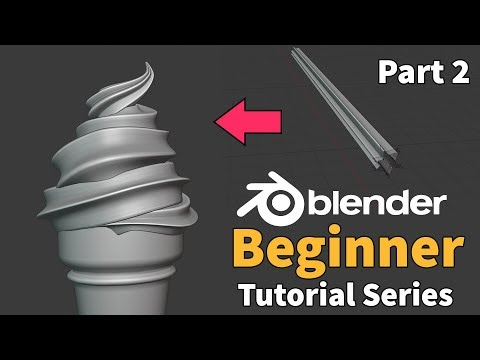 Blender 2.8 Beginner Tutorial - Part 2 : Modifiers