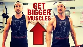 """Are you still too skinny? Here's how to gain weight:http://www.weightgainblueprint.com/view/yt14xEvery guy in the gym wants to know how to get bigger muscles. But most guys have a pretty basic approach which slows down their results.I've been going in the gym and trying a lot of experiments recently, and wanted to put together a video to show you the 3 things that have to be in my training strategy to optimize my muscle size and strength.You guys are going to enjoy this video!I break down the 3 factors as:1. Compound Progressive Strength2. Time Under Tension3. X FactorsCompound progressive strength means that are you tracking your lifts and you are going in the gym and going for PR's almost every single workout! You should know how much you lifted on a lift the previous workout, and always strive to beat that number!The second factor is time under tension. After i get my heavy lifting in I make sure to incorporate some type of """"time under tension"""" training so i can maximize another important muscle building factor.Getting stronger and exposing your muscles to """"time under tension"""" training is a MUST if you want to grow your muscles fast.The third tip I categorize as """"x factors"""" and it's doing some isometrics or resistance band training at night for the muscle group you trained that day at the gym.If you do those 3 things every single workout you actually guarantee muscle growth!See the full blog post here: http://www.weightgainnetwork.com/workouts/how-to-get-bigger-muscles-my-3-favorite-training-strategies-to-get-big-and-strong-fast.phpThe 7 Hardgainer Mistakes That Are Keeping You Skinny:★ http://www.weightgainblueprint.com/view/yt14xComplete Weight Gain Program:★ http://www.WeightGainBlueprint.com[ GET OUR LATEST VIDEOS ]Click here to subscribe:► http://bit.ly/Subscribe-To-WGNCheck out the rest of the videos:https://www.youtube.com/user/WeightGainNetwork/videos[ FIND US ONLINE ]Website:http://www.WeightGainNetwork.comFacebook:https://web.facebook.com/weightgainnetw"""