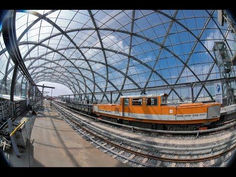 """Erste Fahrt in den neuen Bahnhof """"Elbbrücken"""": Der Ba ..."""
