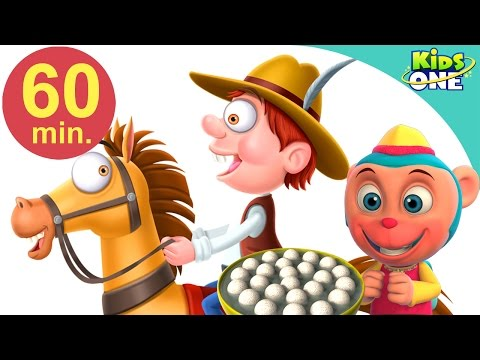 Chal Mere Ghode | Hindi Children Rhymes | 60 Min Compilation