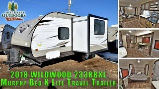 1. 2018 FOREST RIVER WILDWOOD 233RBXL Murphy Bed Travel Trailer RV Sales Dealer