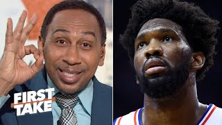 Stephen A. shreds Joel Embiid's zero points against the Raptors | First Take