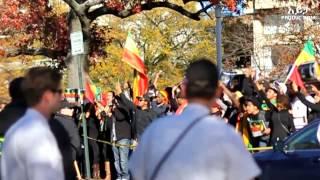 Ethiopians In Washington D.C. Protest Against Human Rights Abuse In Saudi Arabia. Saudi Embassy.