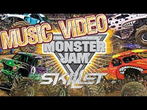 Skillet - Monster    Monster Jam Music Video   San Diego at Petco Parks   Monster Jam Trucks Kids