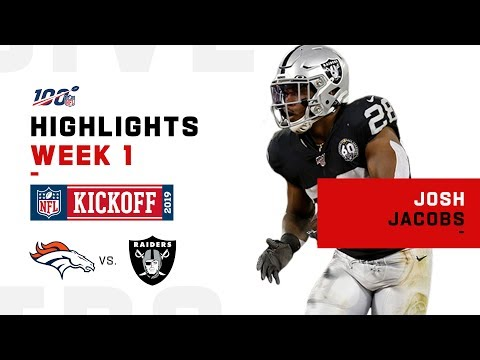 Josh Jacobs Racks Up 113 Total Yds & 2 TDs in NFL Debut | 2019 Highlights