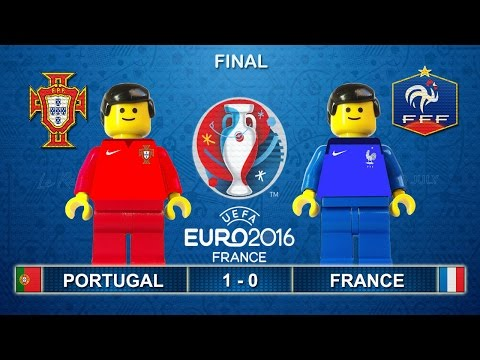 Euro 2016 Final : Portugal vs France 1-0 ( Film in Lego Football Highlights )